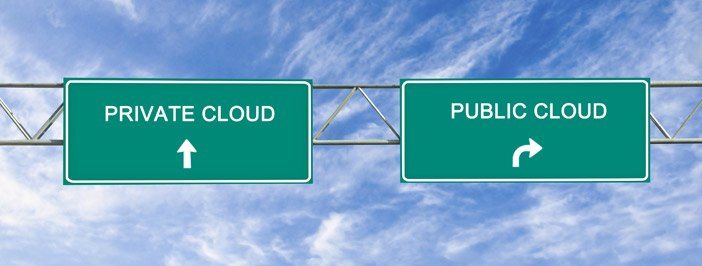 public and private clouds