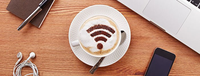 Wi-Fi connection showed in cup